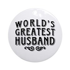 World's Greatest Husband Ornament (Round)