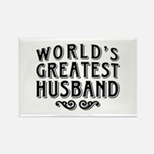 World's Greatest Husband Rectangle Magnet