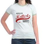 World's Hottest Wife Jr. Ringer T-Shirt