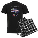EMS Happy Holidays Greetings Men's Dark Pajamas