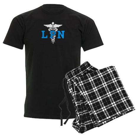 LPN Medical Symbol Men's Dark Pajamas