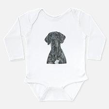 NBlu Portrait Long Sleeve Infant Bodysuit