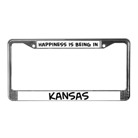 Happiness is Kansas License Plate Frame