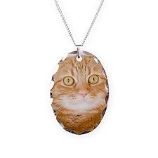 Orange cat Necklace