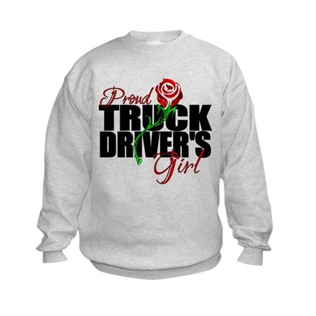 Be Proud - Truck Driver's Girl Kids Sweatshirt