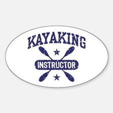 Kayaking Instructor Sticker (Oval)