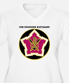 DUI - 2nd Engineer Bn with Text T-Shirt