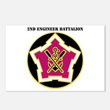DUI - 2nd Engineer Bn with Text Postcards (Package