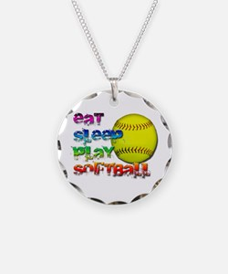 Eat sleep soft 2 Necklace