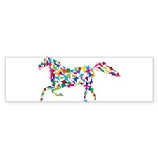 Abstract Horse Bumper Sticker