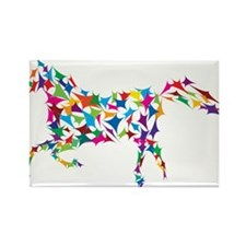 Abstract Horse Rectangle Magnet