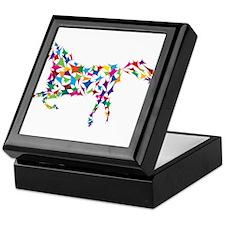 Abstract Horse Keepsake Box
