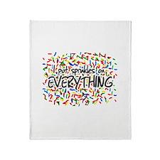 I Put Sprinkles on Everything Throw Blanket