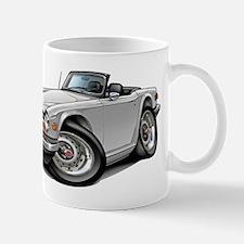Triumph TR6 White Car Mug