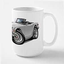 Triumph TR6 White Car Large Mug