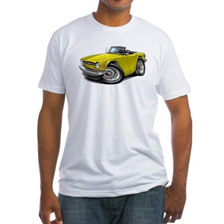 Triumph TR6 Yellow Car Fitted T-Shirt