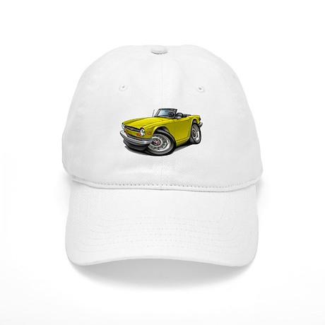 Triumph TR6 Yellow Car Cap