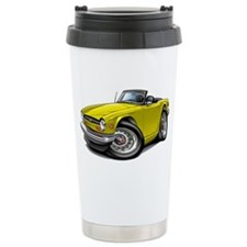 Triumph TR6 Yellow Car Travel Mug