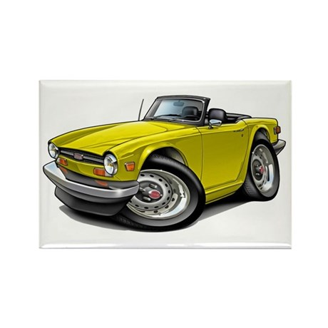Triumph TR6 Yellow Car Rectangle Magnet