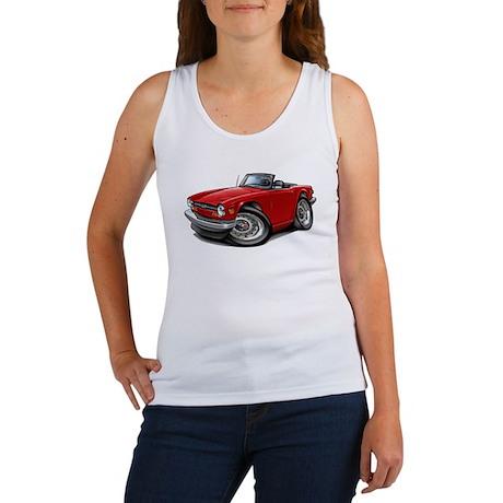 Triumph TR6 Red Car Women's Tank Top