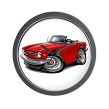 Triumph TR6 Red Car Wall Clock