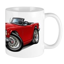 Triumph TR6 Red Car Small Mug