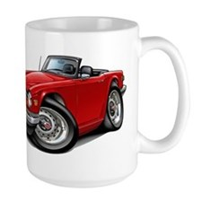 Triumph TR6 Red Car Mug
