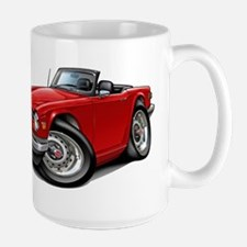 Triumph TR6 Red Car Mug