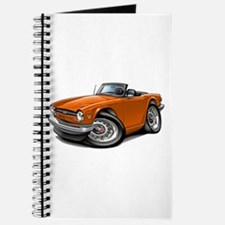 Triumph TR6 Orange Car Journal