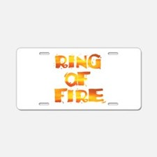 RING OF FIRE Aluminum License Plate