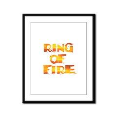 RING OF FIRE Framed Panel Print