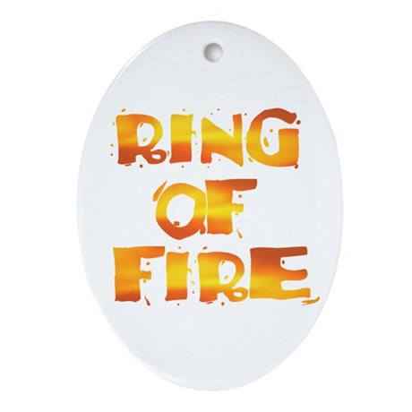 RING OF FIRE Ornament (Oval)
