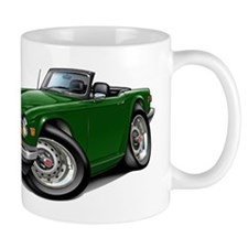 Triumph TR6 Green Car Small Mug