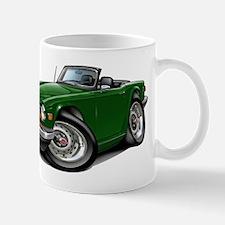 Triumph TR6 Green Car Small Small Mug