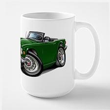 Triumph TR6 Green Car Large Mug