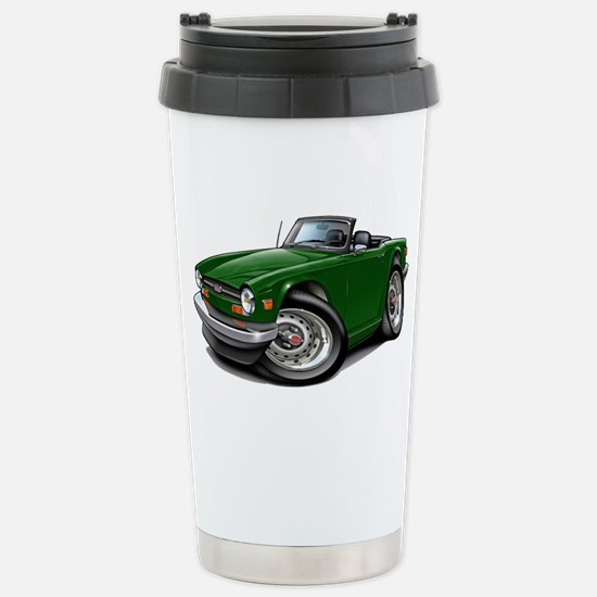 Triumph TR6 Green Car Stainless Steel Travel Mug
