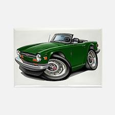 Triumph TR6 Green Car Rectangle Magnet