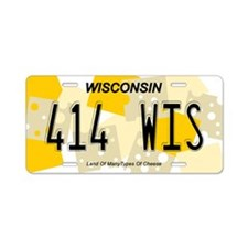 WI Cheese Aluminum License Plate