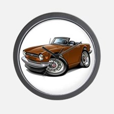 Triumph TR6 Brown Car Wall Clock