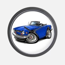Triumph TR6 Blue Car Wall Clock