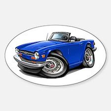 Triumph TR6 Blue Car Decal