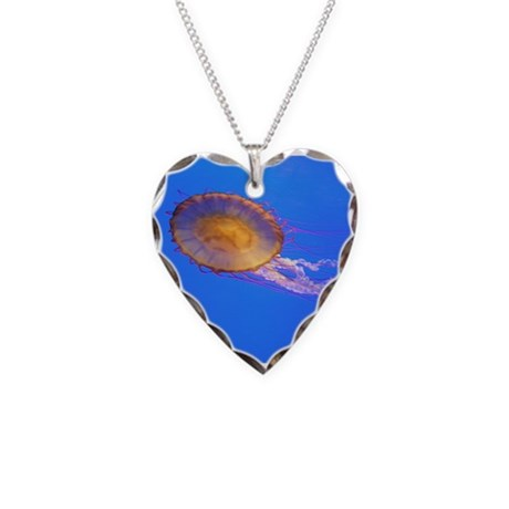 Helaine's Jelly Fish Necklace Heart Charm