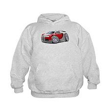 Veyron Grey-Red Car Hoodie