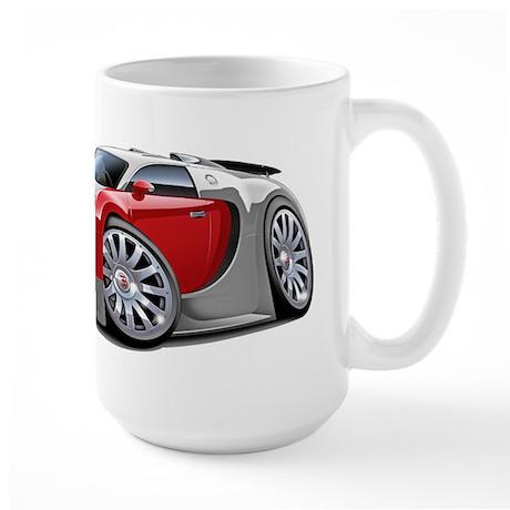 Veyron Grey-Red Car Large Mug