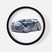 Veyron Grey-Blue Car Wall Clock