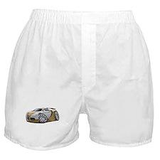 Veyron Gold-Grey Car Boxer Shorts