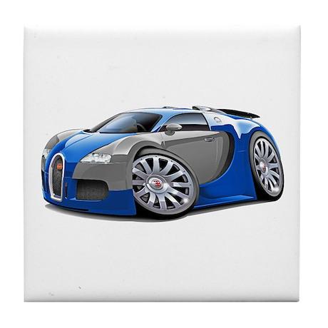 Veyron Blue-Grey Car Tile Coaster