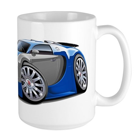 Veyron Blue-Grey Car Large Mug