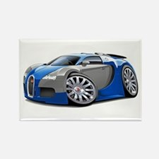 Veyron Blue-Grey Car Rectangle Magnet