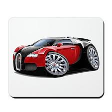 Veyron Black-Red Car Mousepad